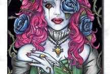 Artwork from Fans / Completed coloring pages by Jade Summer fans.