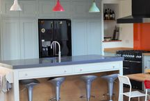It's all about the Island / Its all about the island! Well you know we love concrete here at Sustainable kitchens and this island with handy drawers and second sink really shows what you can do with this amazing and versatile material. It is also all about those magnificent larder cabinets; with so much storage space in one area we have the luxury of being able to keep the rest of the kitchen fairly minimal and really maximise the feeling of space.