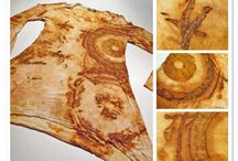 rust dyeing fabric