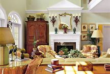 LAVISH LIVING SPACE STYLE SENSE~ / living rooms, great rooms, dens, classic, vin, traditional, boho, shabby chic &  eccentric styles.  Tables, chairs, couches, etc. / by Renee Huddleston