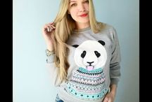 Hand painted clothing by @elena_first / Hand painted sweatshirt panda