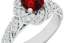 Ruby Engagement Rings / Ruby Engagement Rings Collection: An Ode To Your Love. The ruby gemstone is believed to induce fertility.