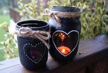 Aðventuljós / christmas candle jar decoration
