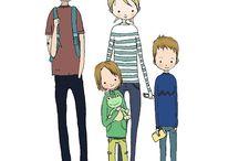 Portraits de famille personnalisés Nélia Illustration