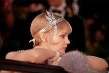 Gatsby Inspiration / Gatsby inspired wedding ideas, bridal gown, bridal accessories, art deco, wedding style, bridal style