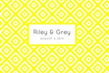 SQUARED / This dynamic, geometric graphic is anything but boring. In fact, the most difficult part of using this design may be picking your custom color. Will it be yellow, honeysuckle, peach, melon, pink, green, navy or black?   A limited edition, luxury wedding website by Riley & Grey design.  / by Riley & Grey