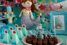 festa infantil fundo do mar menina