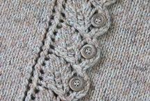 Застёжка. Вязание.