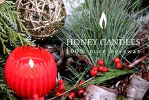 Christmas Gift Ideas beeswax candles / Beeswax Honey Candles for Christmas Gifts