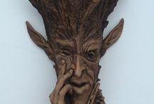 Sculptures sur bois