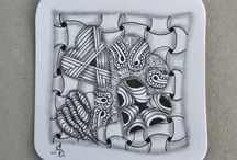 Meine tangle tiles / Zentangle, Tangle tiles, tangle