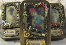 Altered boxes/tins