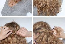 Frisuren und Make-up