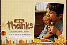Scrapbook Fall-Thanksgiving