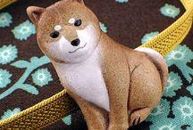 柴犬の帯留め / 子犬の帯留はありましたが、大人の柴犬も可愛いので帯留めを作ってみました。