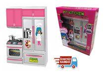 Kıtchen Oyuncak Buzdolabı Mutfak set Pilli Işıklı Sesli