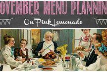 November Menu Planning / Ideas for November menus