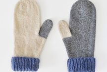Knit mittens and socks