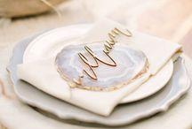 Hochzeitsinspiration - Mineralien