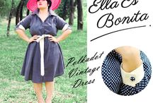 2014 - Vintage Dress / Vintage Dress which specially designed for sophisticated curvy women originally made by Indonesian Designer & Local Brand: Ella Es Bonita.