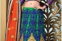 Indian Wedding Sangeet Mehendi Receiption Lehenga / By Lehenga Choli for Wedding Mehndi-Sangeet Function USA Heenastyle. Wear our embroidered lehanga choli Sangeet special designs on your precious occasion. Shop Now!  http://www.heenastyle.com/Mehendi-Sangeet-Lehenga