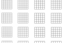 Blank guitar chord and music charts