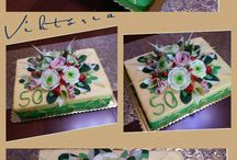 sandwich  cake / bread cake  chesse  vegetable carving  sandwich cake