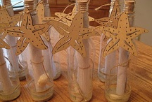 Starfish on a bottle  / Boys party invitation