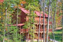 5-Bedroom Cabins in Gatlinburg / Large luxury, 5-bedroom cabins in Gatlinburg, TN, beautiful views and Smoky Mountains scenery. Full amenities, hot tub, 3-5 baths, sleep 12-20 people. Home theater. Call us 24/7 at 855-95-SMOKY, let us do the work of matching the right cabin to your needs. http://www.CabinsOfTheSmokyMountains.com  / by Cabins Of The Smoky Mountains