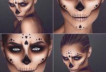 Halloween maquiagem
