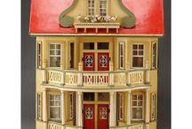 Gottschalk dollhouses eo / antique dollhouses; butchers, shops etc