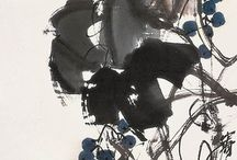 Chinese watercolour paintings