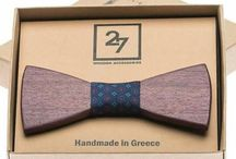 Handmade Wooden Bow Ties / Wooden Bow Tie