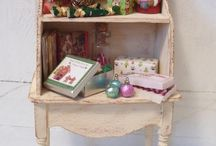 kerst in het poppenhuis