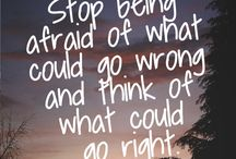 positive thoughts;'