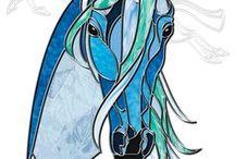cheval vitrail