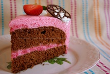 Chocolate Cake with Strawberry Mousse / Always the same cake with different decorations