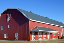 Post Frame Barns by Reaves / This is our Grandpa's Barn!  Lloyd Reaves patented design, wood, post-frame building is built the way today's farmers and ranchers operate.  Get the pole barn you need for your operation.  #postframe  #polebarn  #patendesign  www.reavesbuildings.com