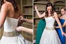 Real Bride Elizabeth wears our SOFIA Wedding Dress / Our SOFIA #weddingdress design as shot on our beautiful #bride Elizabeth by @baumanstudios. A #pintuck bodice and hand beaded drop waist make this #strapless design so special.  As always, made #madeinusa entirely #byhand for your beautiful figure, so there are never any alteration charges.  From our DOVES #collection, SOFIA is 100% English #whiteonwhite #stripe cotton #gatheredskirt w/ 2 #pockets #ArtDeco Inspired #rhinestone band lined in 100% Cotton available in: White, Ivory #vegan