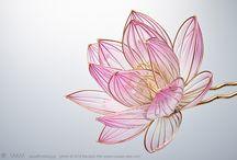kwiaty drucikowe