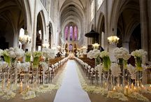 Church Decorations / A lot of wedding still occur in Churches, and the more ornate the church the less you need to do for it to look beautiful.....Here are some things other brides have decided to do in their churches.