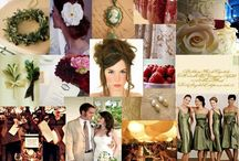 February Sage & Cranberry Wedding