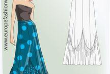 patrón flamenca