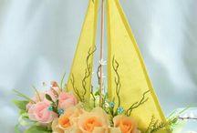 łódz z kwiatów