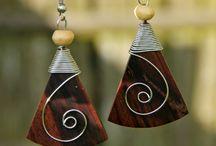 Pachamama / natural wooden jewelry