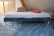 Tête de lit en jeans