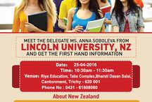Delegate Visit in Trichy - Lincoln University,  New Zealand / Delegate visit in Trichy !!! Those who wish to study abroad, come and meet the delegate to get first hand information. Lincoln University is one of the oldest University in New Zealand.