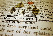 Art black out poetry