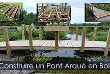 Pont de Bassin de Jardin - Étapes de construction / Guide et instructions détaillées avec photos pour construire un pont de jardin arqué ou passerelle courbée. Pont pour bassins, pour ruisseaux ou pour petites rivières.