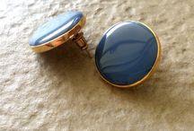 RETRO BLUE ENAMEL EARRINGS – beqooshop.com